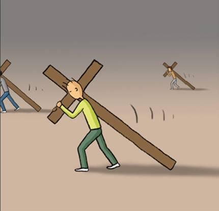 Resultado de imagem para renuncie a si mesmo tome a sua cruz e siga-me